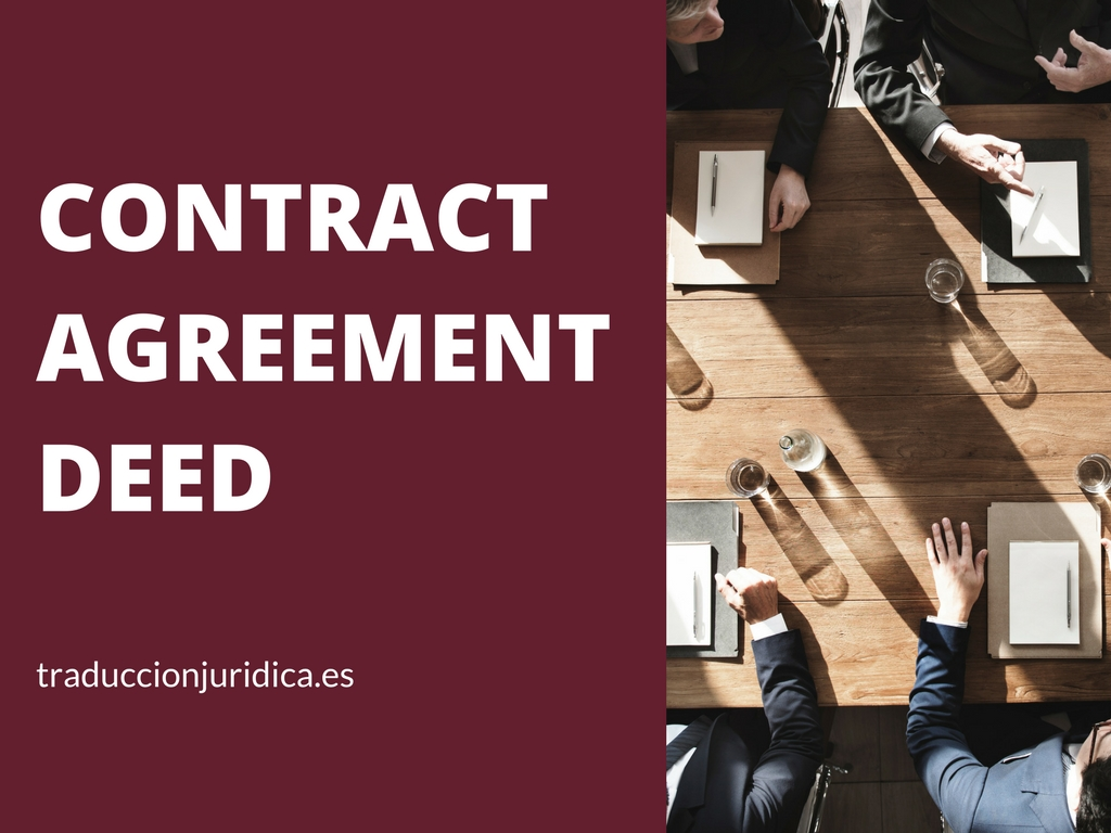 Diferencias entre Contract, Agreement y Deed
