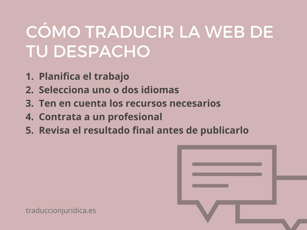 5 claves para traducir con garantías la página web de un despacho de abogados