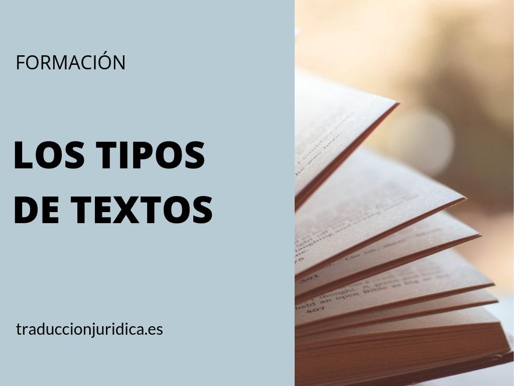 Los Tipos De Textos En La Traducción Jurídica Traducción Jurídica