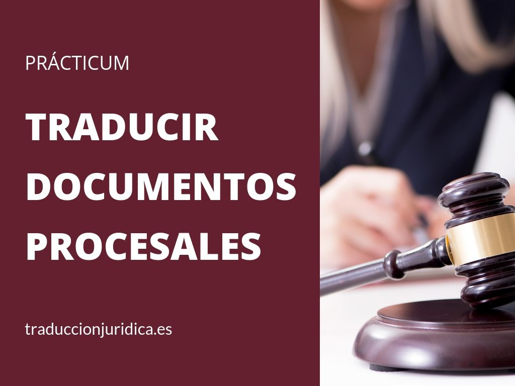 Cómo traducir documentos procesales