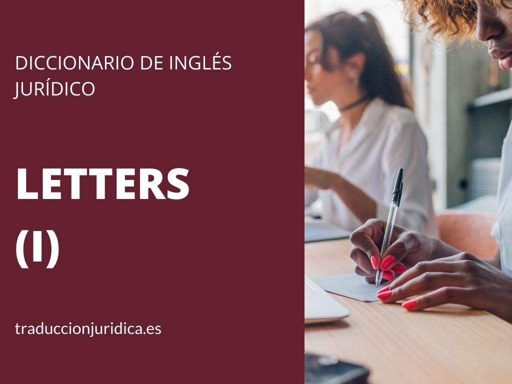 Diccionario de inglés jurídico: Financial Letters