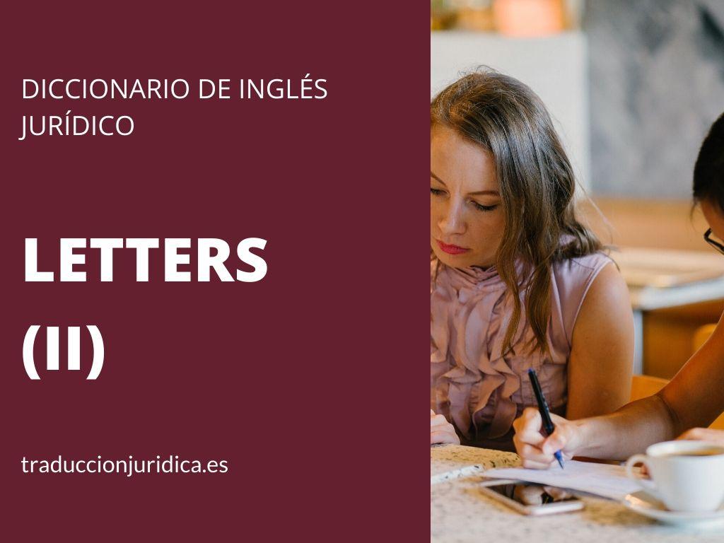 Diccionario de inglés jurídico: Legal Letters