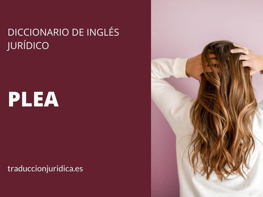 Diccionario de inglés jurídico: Plea, Plead, Pleadings